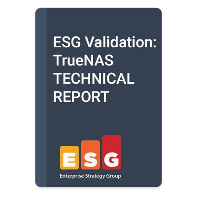 TrueNAS Performance Gets Praise from ESG